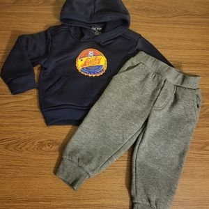Lucky Brand Baby Boy Hoodie & Pant Set Size 18M